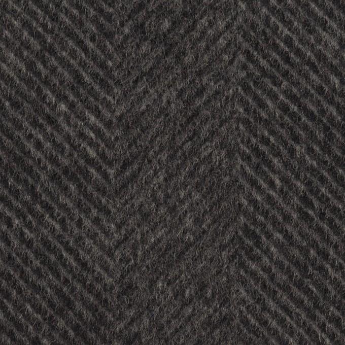 カシミア&ウール×無地(チャコール)×ビーバー イメージ1
