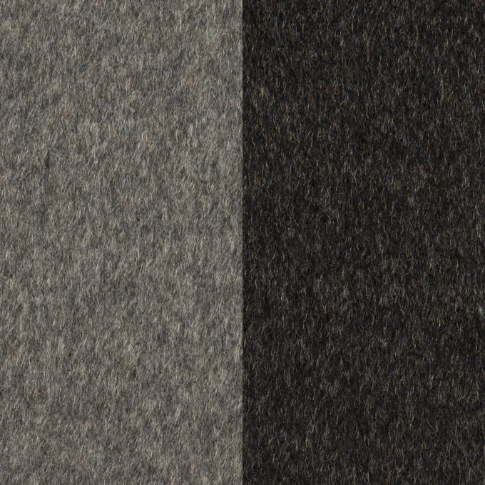 カシミア&ウール×無地(グレー&チャコール)×ビーバー(Wフェイス) イメージ1