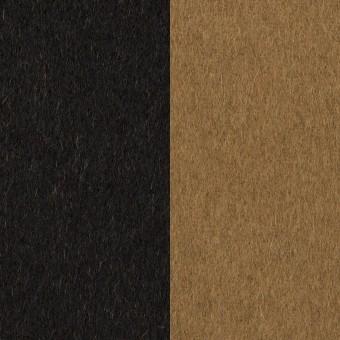 ウール&カシミア×無地(ブラック&オーカー)×ビーバー&フラノ(Wフェイス)