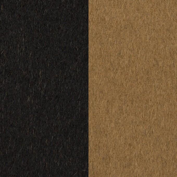 ウール&カシミア×無地(ブラック&オーカー)×ビーバー&フラノ(Wフェイス) イメージ1