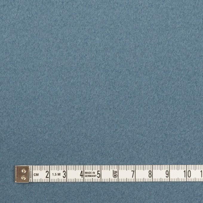 ウール×無地(ゼニスブルー)×フラノ(フランネル) イメージ4