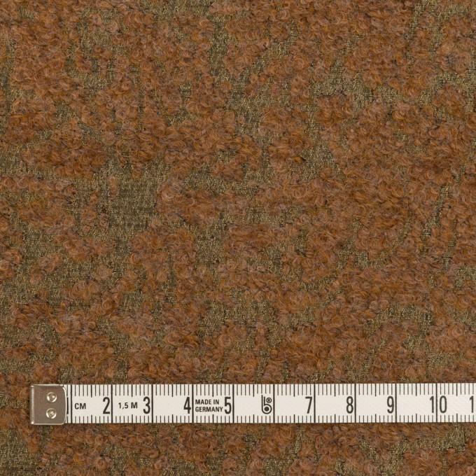 モヘア&シルク混×ミックス(カーキ&モカ)×ジャガード_イタリア製 イメージ4