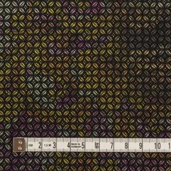 コットン&ポリエステル混×小紋(イエロー&パープル)×ジャガード・ストレッチ サムネイル4