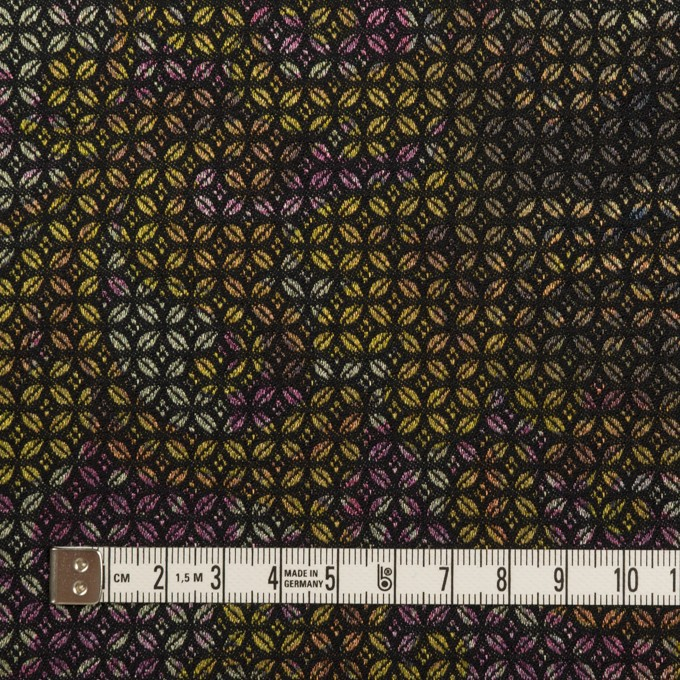 コットン&ポリエステル混×小紋(イエロー&パープル)×ジャガード・ストレッチ イメージ4