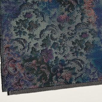 コットン&ポリエステル混×小紋(ピンク&ブルー)×ジャガード・ストレッチ サムネイル2