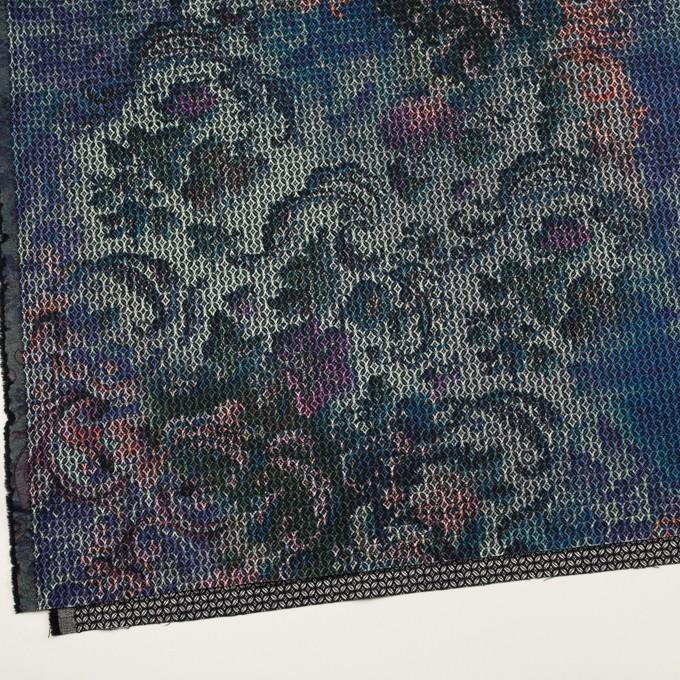 コットン&ポリエステル混×小紋(ピンク&ブルー)×ジャガード・ストレッチ イメージ2