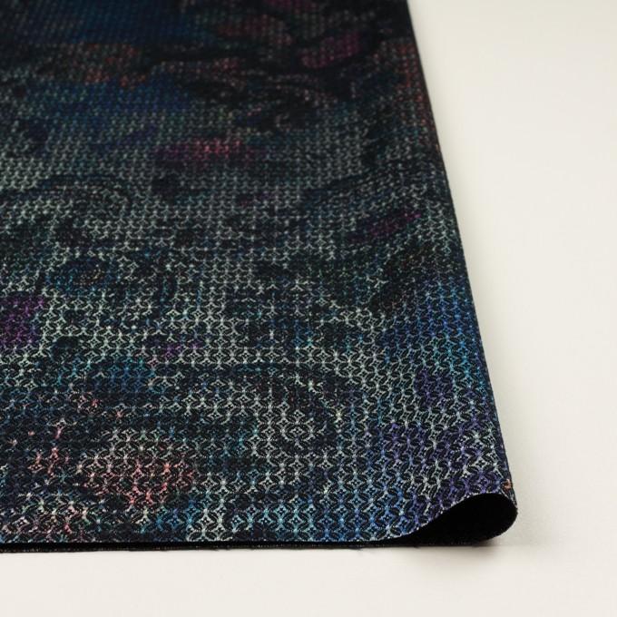 コットン&ポリエステル混×小紋(ピンク&ブルー)×ジャガード・ストレッチ イメージ3