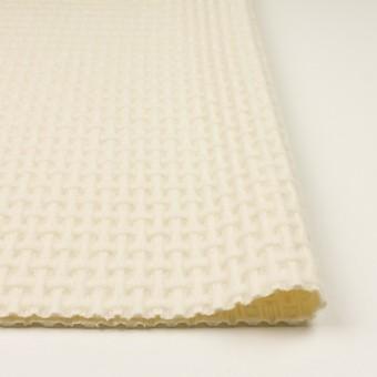 ウール×無地(エクリュ)×蜂巣織_イタリア製 サムネイル3