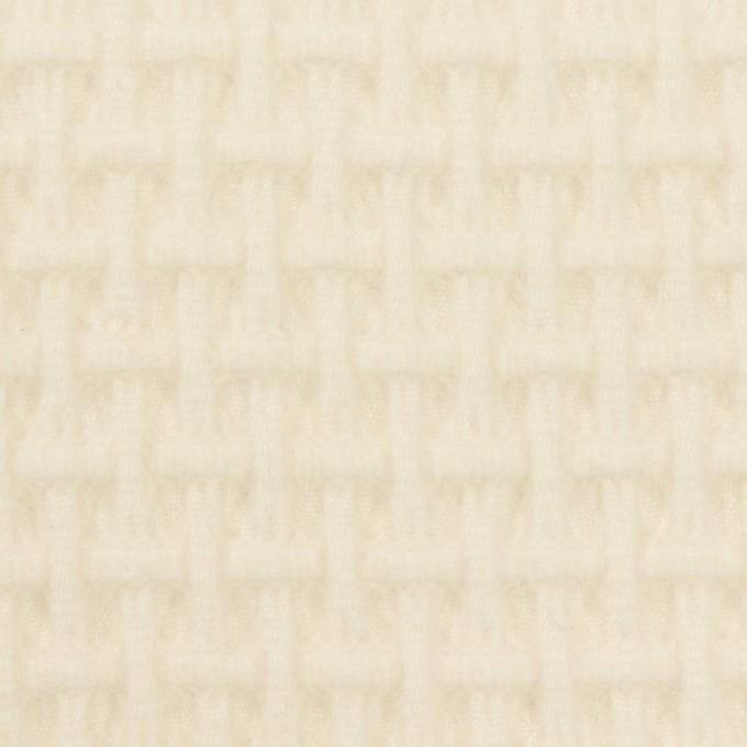 ウール×無地(エクリュ)×蜂巣織_イタリア製 イメージ1