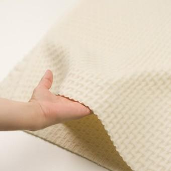 ウール×無地(エクリュ)×蜂巣織_イタリア製 サムネイル5