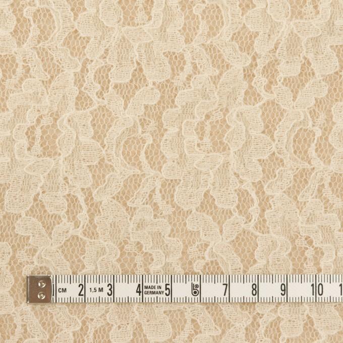 アクリル&ウール混×フラワー(ベージュ)×ラッセルレース&メッシュニット イメージ4