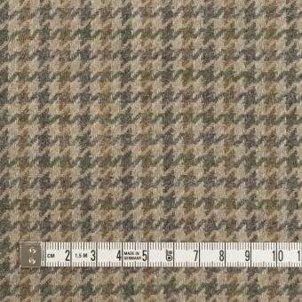 ウール&アンゴラ×千鳥格子(グレイッシュベージュ、モカ&グレー)×カルゼ サムネイル4