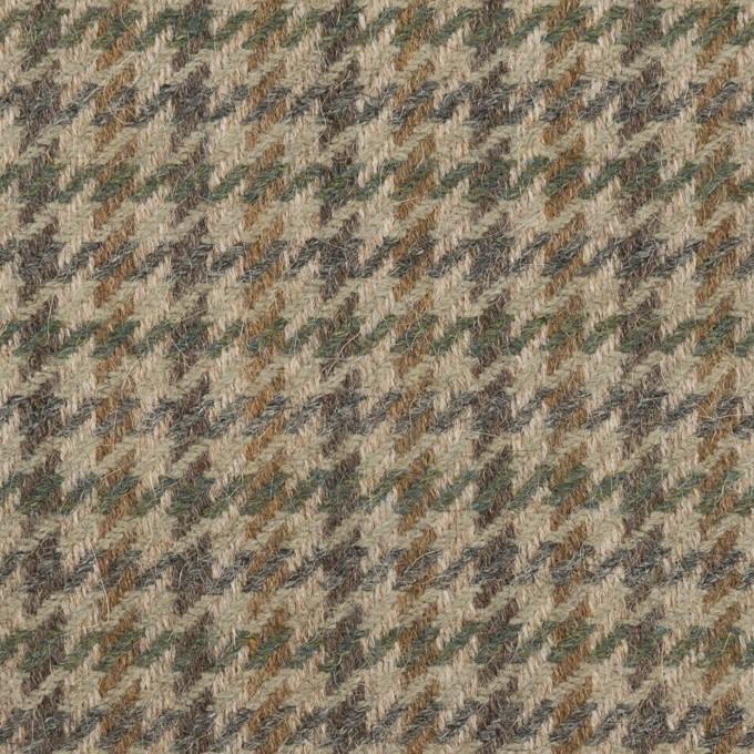 ウール&アンゴラ×千鳥格子(グレイッシュベージュ、モカ&グレー)×カルゼ イメージ1
