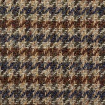 ウール×千鳥格子(ベージュ、ブラウン&ネイビー)×ツイード サムネイル1