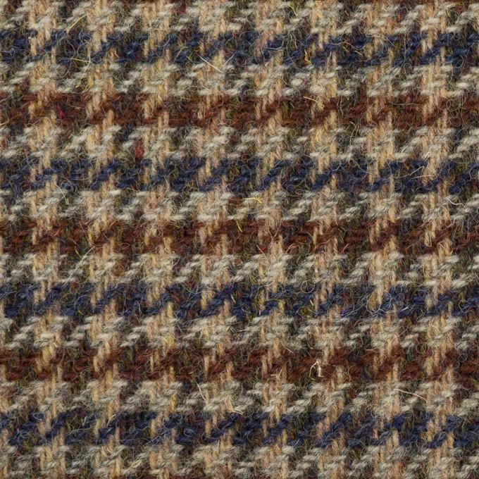 ウール×千鳥格子(ベージュ、ブラウン&ネイビー)×ツイード イメージ1