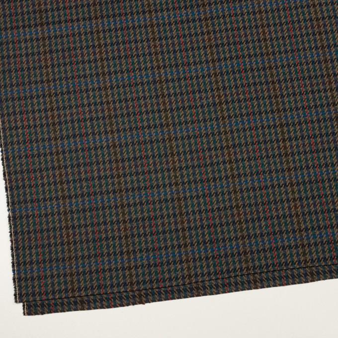 ウール×チェック(ネイビー&クロムグリーン)×カルゼ イメージ2