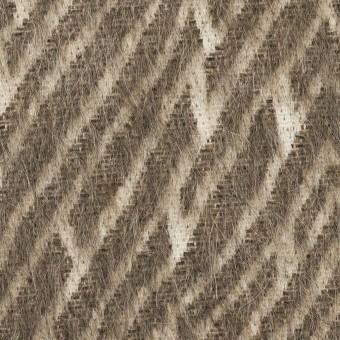 ウール&コットン混×幾何学模様(アッシュブラウン)×シャギー