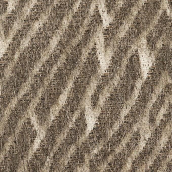 ウール&コットン混×幾何学模様(アッシュブラウン)×シャギー イメージ1