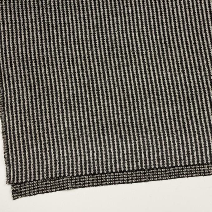 アンゴラ&ウール×ストライプ(ブラック&ホワイト)×シャギー イメージ2