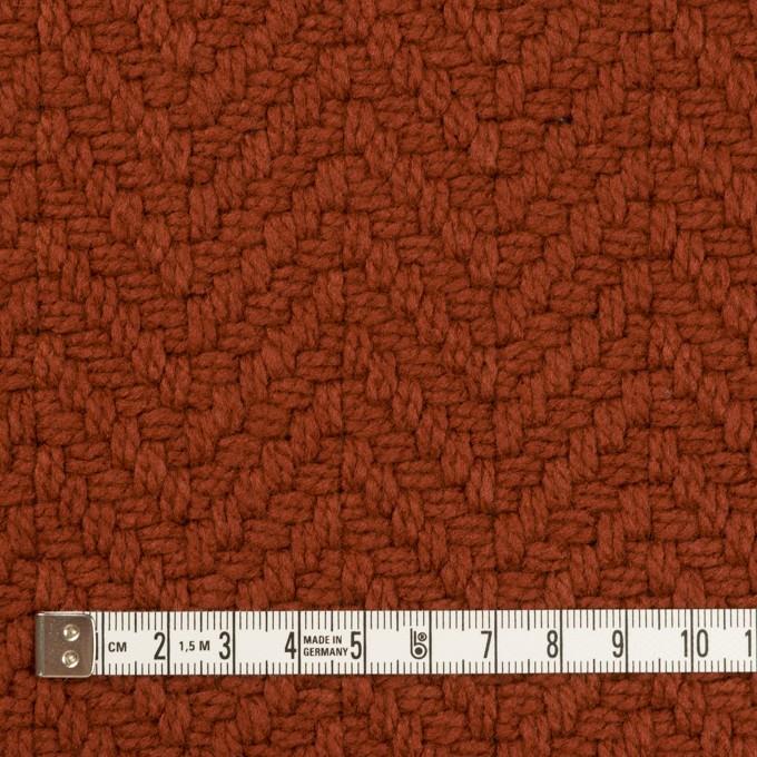 アクリル&ポリエステル混×無地(レンガ)×斜子織_全2色 イメージ4