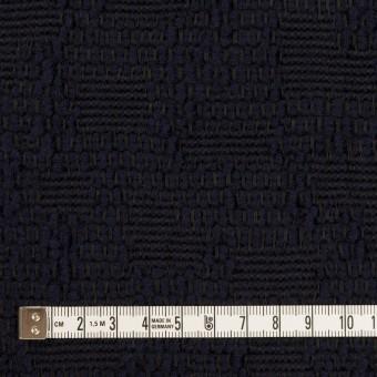 ウール&コットン混×無地(ダークネイビー)×かわり織 サムネイル4