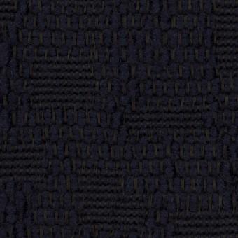 ウール&コットン混×無地(ダークネイビー)×かわり織