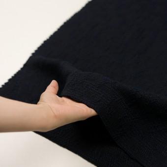 ウール&コットン混×無地(ダークネイビー)×かわり織 サムネイル5