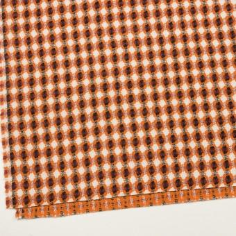 コットン&ポリエステル×フラワー(オレンジ)×ドビー_全3色 サムネイル2