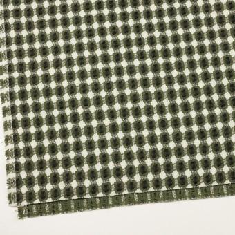 コットン&ポリエステル×フラワー(グリーン)×ドビー_全3色 サムネイル2