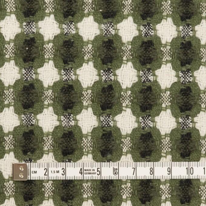 コットン&ポリエステル×フラワー(グリーン)×ドビー_全3色 イメージ4