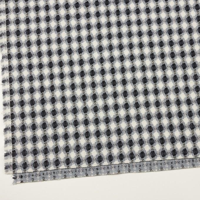 コットン&ポリエステル×フラワー(ブルーグレー)×ドビー_全3色 イメージ2