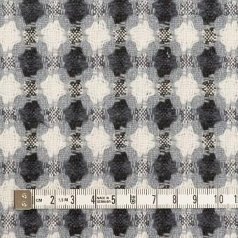 コットン&ポリエステル×フラワー(ブルーグレー)×ドビー_全3色 サムネイル4