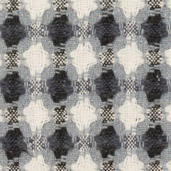【140cmカット】コットン&ポリエステル×フラワー(ブルーグレー)×ドビー_全3色
