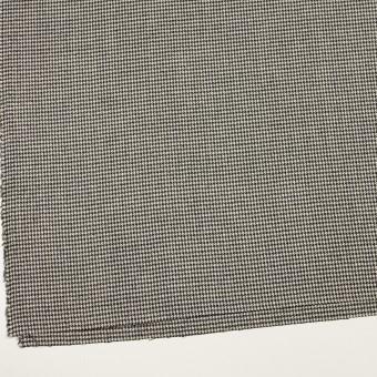 ウール&ポリウレタン×チェック(アイボリー&ブラック)×千鳥格子ストレッチ サムネイル2