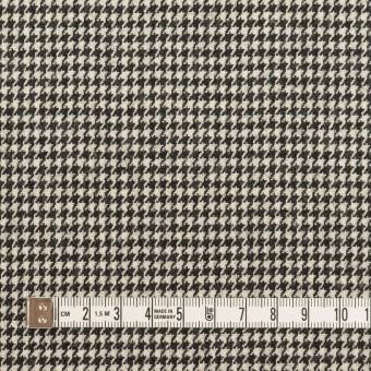 ウール&ポリウレタン×チェック(アイボリー&ブラック)×千鳥格子ストレッチ サムネイル4