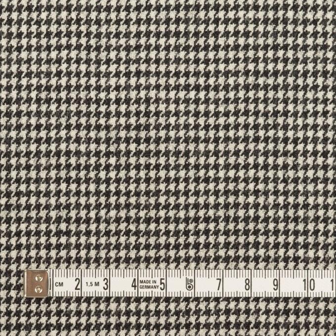 ウール&ポリウレタン×チェック(アイボリー&ブラック)×千鳥格子ストレッチ イメージ4