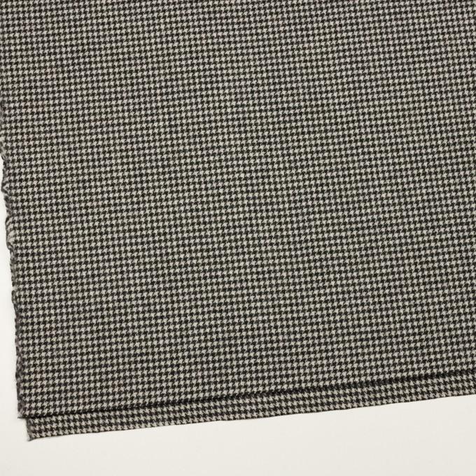 ウール×チェック(アイボリー&チャコールブラック)×ツイード イメージ2
