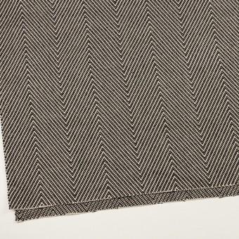 ウール&コットン×ミックス(キナリ&ブラック)×斜子織 サムネイル2