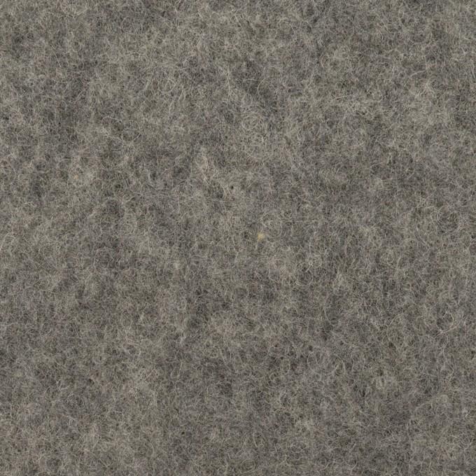 ウール&ポリエステル×無地(チャコールグレー)×フリースニット イメージ1