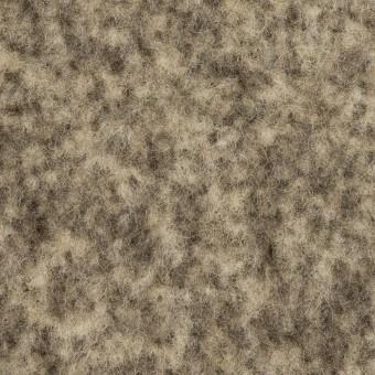 ウール&アクリル混×ミックス(キナリ&ダークブラウン)×Wフェイス・フリース_イタリア製