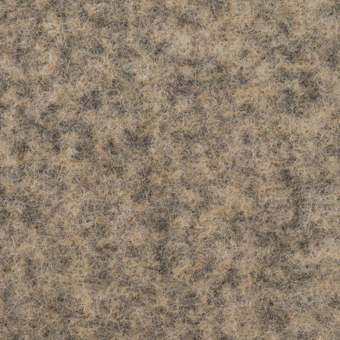 ウール&アクリル混×ミックス(ベージュ&チャコールグレー)×Wフェイス・フリース_イタリア製 イメージ1