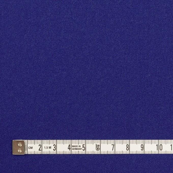 ウール×無地(マリンブルー)×ジョーゼット イメージ4
