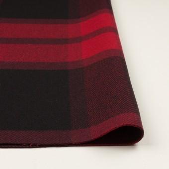 ウール&ナイロン×チェック(レッド&ブラック)×厚カルゼ_パネル_全2色 サムネイル3
