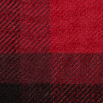 ウール&ナイロン×チェック(レッド&ブラック)×厚カルゼ_パネル_全2色 サムネイル1