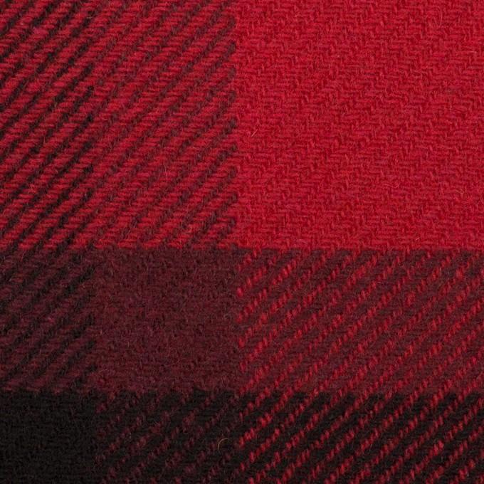 ウール&ナイロン×チェック(レッド&ブラック)×厚カルゼ_パネル_全2色 イメージ1
