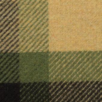 ウール&ナイロン×チェック(ベージュ&グリーン)×厚カルゼ_パネル_全2色 サムネイル1