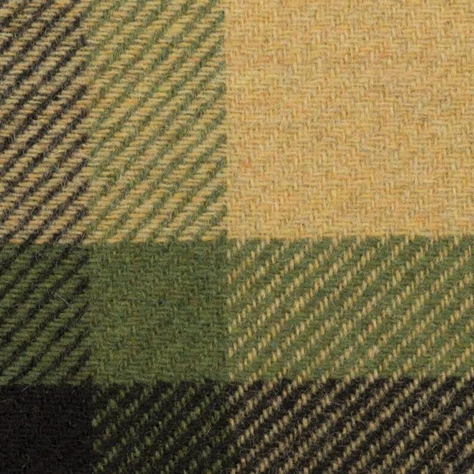 ウール&ナイロン×チェック(ベージュ&グリーン)×厚カルゼ_パネル_全2色 イメージ1
