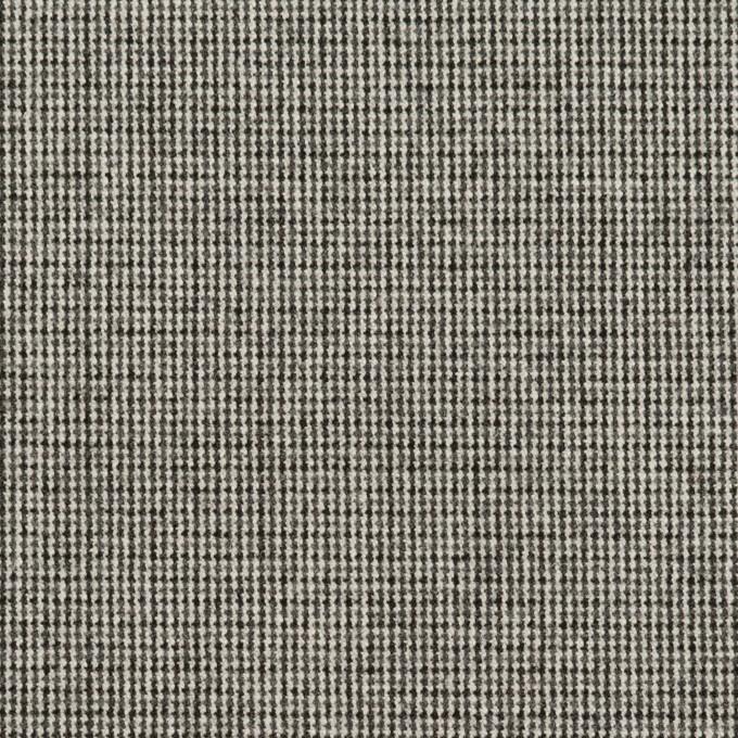 ポリエステル&レーヨン混×無地(グレー)×千鳥格子ストレッチ イメージ1