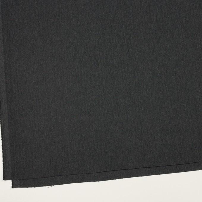 コットン&ポリウレタン×無地(チャコール)×ヘリンボーン・ストレッチ イメージ2