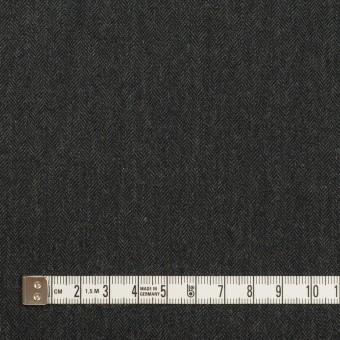 コットン&ポリウレタン×無地(チャコール)×ヘリンボーン・ストレッチ サムネイル4